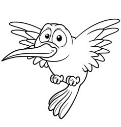 Hummingbird outline vector image