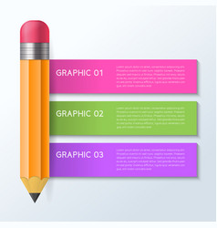 Infographic pencil design concept vector