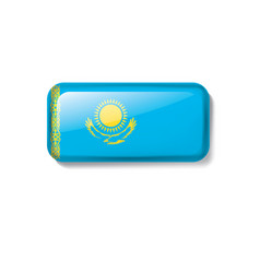 kazakhstan flag on a white vector image
