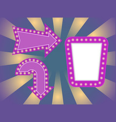 light frame with glowing bulb vector image