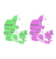 map of denmark vector image