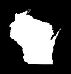Map us state wisconsin vector