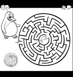 Maze or labyrinth coloring page vector