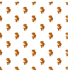 Number 3 from caramel pattern vector