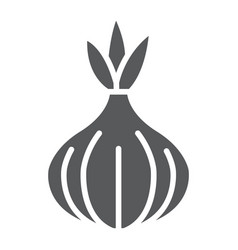 onion glyph icon vegetable and diet vector image