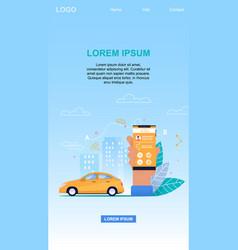 online taxi service mobile app vertical banner vector image