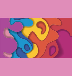 paper rainbow background vector image