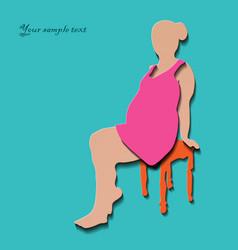 Pregnant woman stylized symbol vector