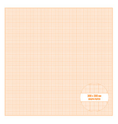 Printable metric graph paper 30x30 cm size vector