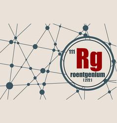 roentgenium chemical element vector image