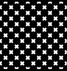 seamless pattern white crosses on black vector image