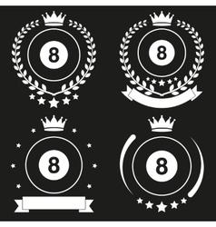 Set of Vintage Billiard Club Badge and Label vector image