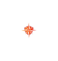 Shield compass star logo vector