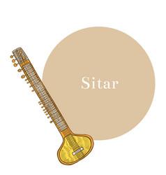 sitar vector image