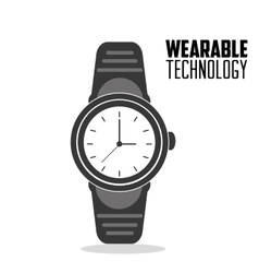 smart watch trendy display wearable technology vector image