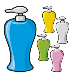 Soap dispenser plastic pump vector