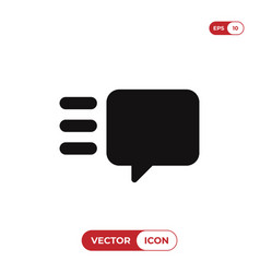 speech bubble icon chat conversation vector image