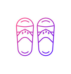 Taiwanese slippers gradient linear icon vector
