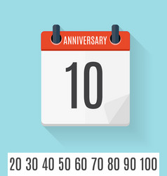 Template set of anniversary celebration invitation vector
