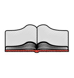 text book open isolated icon vector image
