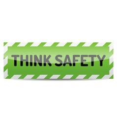 Think safety vector