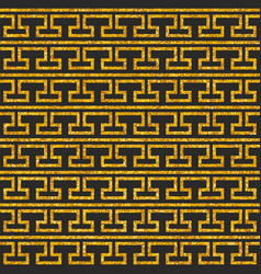 tile decorative floor gold and dark pattern vector image
