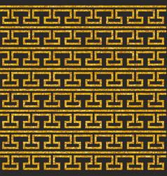 Tile decorative floor gold and dark pattern vector