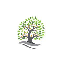 Tree leaf ecology nature design vector