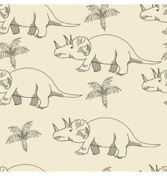 Triceratops seamless retro vector