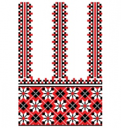 Ukrainian embroidery ornament vector image