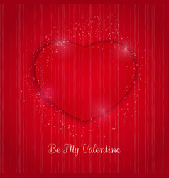 Valentines day background with lights efects and vector