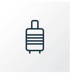 valise outline symbol premium quality isolated vector image