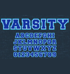varsity design alphabet template letters and vector image