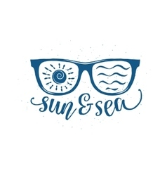 Vintage summer sunglasses with quote vector
