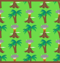 Volcano magma seamless pattern background vector