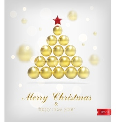 Xmas gold tree vector