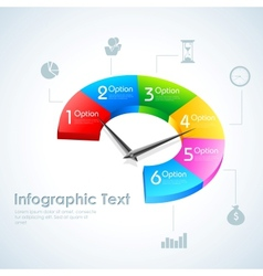 Business Infographics Pie Chart vector image
