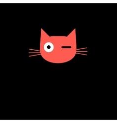Ed sign portrait of a cat vector