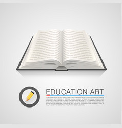 open book education art on a white background vector image