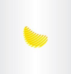potato chips logo icon vector image vector image