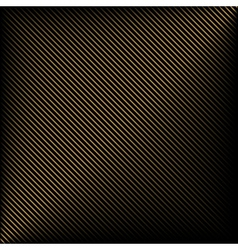 Black background in gold stripes vector image