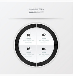 circle presentation template black and white vector image