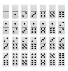 domino set realistic white vector image