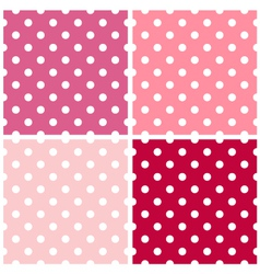 Dotted retro pattern collection for Valentines vector image vector image