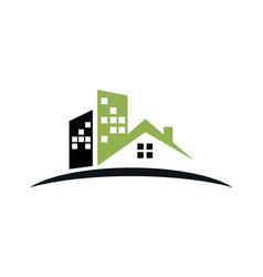 House building company logo vector