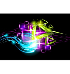 Light effect background vector image vector image