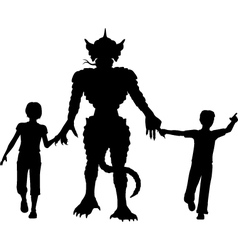 Monster kids vector image vector image