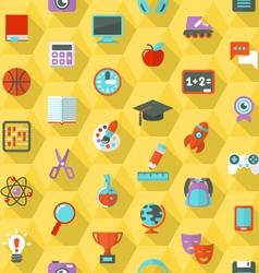 School Hexagon Pattern vector image vector image
