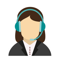 Call center customer service assistant avatar icon vector