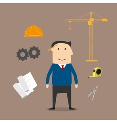 Engineer and construction industry icons vector